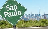 Sao Paulo Sign on the skyline — Stock Photo