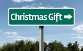 Christmas Gift sign — Stock Photo