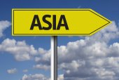 Asia Creative sign — Stock Photo