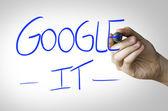 Google It written on wipe board — Stock Photo