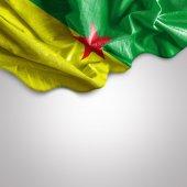 Waving flag of French Guiana — Stock Photo