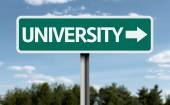 University creative sign — Stock Photo