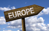 Europe wooden sign — Stock Photo
