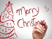 """Merry Christmas"" Hand writing — Foto Stock"