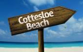 Cottesloe Beach, Australia wooden sign — Stock Photo