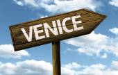 Venice, Italy wooden sign — 图库照片