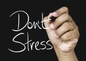 Don't Stress hand writing — Stok fotoğraf