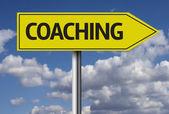 Coaching creative sign — Stock Photo