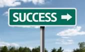 Success creative green sign — Stock Photo