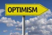 Optimism creative sign — Stock Photo