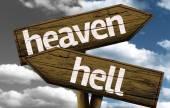Heaven x Hell creative sign — Stock Photo