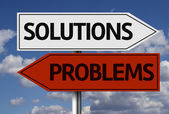 Creative sign - Solutions, Problems — Stock Photo
