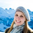 Pretty blonde girl smiling in the Alps. — Stock Photo #63160487