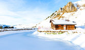 Ski Station on mount over Engelberg on the Swiss alps. — Stock Photo