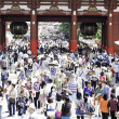 Tourists in the Senso-ji Temple in Tokyo — Stock Photo #63647411