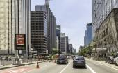 Paulista Avenue in Sao Paulo — Stock Photo