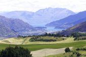 Queenstown Valley in New Zealand — Stock Photo