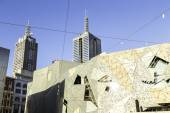 Iconic Federation Square in Melbourne — Stock Photo
