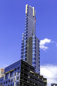 Melbourne skyskrapor — Stockfoto