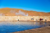 Geothermal water in Atacama — Stock Photo