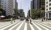 Paulista Avenue w Sao Paulo — Zdjęcie stockowe