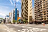 Paulista Avenue in Sao Paulo — Стоковое фото