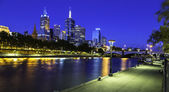 Melbourne city at night — Stock Photo