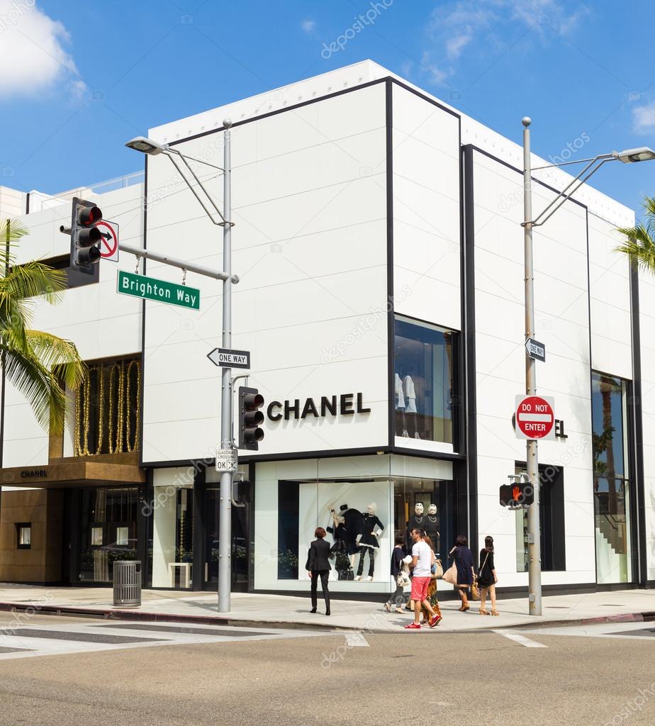 Chanel Store In Rodeo Drive In Beverly Hills Stock