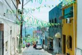 BAHIA, SALVADOR - CIRCA NOV 2014: Colonial houses in Salvador, Bahia, Brazil. — Stock Photo