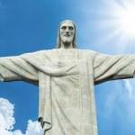 Christ the Reedemer statue, Corcovado, Rio de Janeiro, Brazil — Stock Photo #64108371