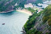 Aerial view of Botafogo Beach in Rio de Janeiro, Brazil — Stock Photo