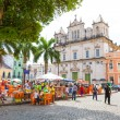 BAHIA, BRAZIL - CIRCA NOV 2014: People walk in Pelourinho area, famous Historic Centre of Salvador, Bahia in Brazil. — Stock Photo #65481013