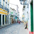 BAHIA, BRAZIL - CIRCA NOV 2014: People walk in Pelourinho area, famous Historic Centre of Salvador, Bahia in Brazil. — Stock Photo #65481029