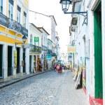 BAHIA, BRAZIL - CIRCA NOV 2014: People walk in Pelourinho area, famous Historic Centre of Salvador, Bahia in Brazil. — Stock Photo #65481029
