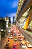 THAILAND, BANGKOK - CIRCA JUL 2014: Road traffic in Bangkok, Thailand. — Stock Photo
