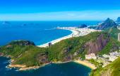 Aerial view of Botafogo, Copacabana and Ipanema beach in Rio de Janeiro, Brazil — Stock Photo