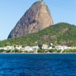 The Sugarloaf Mountain in Rio de Janeiro, Brazil with the bay and Atlantic Ocean — Stock Photo #65841147