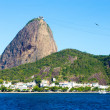 The Sugarloaf Mountain in Rio de Janeiro, Brazil with the bay and Atlantic Ocean — Stock Photo #65840909