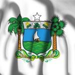 Flag of Coat of arms of Rio Grande do Norte — Stock Photo #66053699
