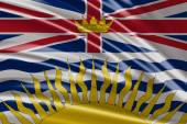 Flag of the British Columbia — Stock Photo