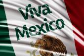 Amazing flag with Viva Mexico — Stock Photo