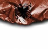 Albania waving flag — Stock Photo