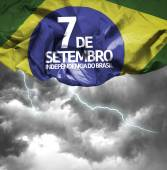 Independencia do Brasil on a bad day — Stock Photo