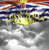 Wapperende vlag van Brits-Columbia — Stockfoto