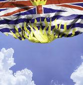 British Columbia waving flag — Stock Photo