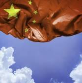 China waving flag — Stock Photo