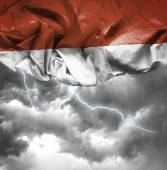 Indonesia waving flag — Stock Photo
