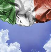 Italy waving flag on a beautiful day — Stock Photo