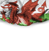 Wales waving flag — Stock Photo