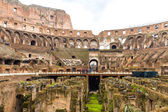 Inside the Colosseum in Rome, Italy — Stock Photo